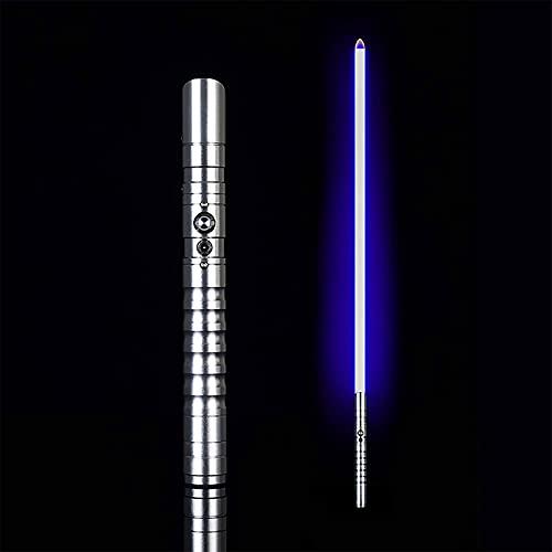 KPTKP Sabre de luz de metal com vários efeitos de luz e som, sabres de luz LED 9W para adultos e crianças, sabres de luz recarregável USB de 100 cm com bateria de grande capacidade de 1200 mAh