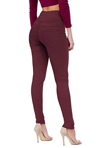 Women's Butt Lift V3 Super Comfy Stretch Denim Jeans P45065SK Wine 5