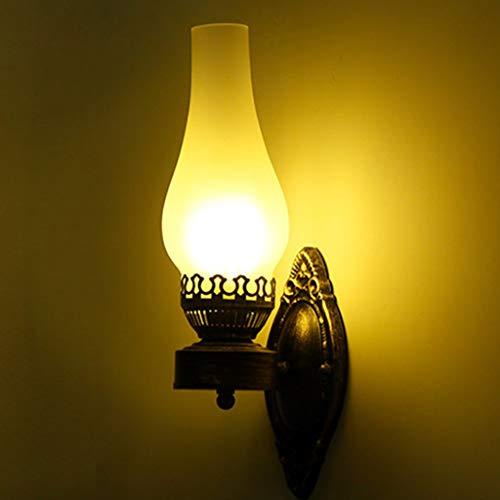 Einfach Kreativ Wandleuchte Vintage Antik Nostalgie Innen Design Wandlampe Rund Weiß Glas Lampenschirm Lampenfassung Rustikale Wandleuchte Antik Wirkende [Energieklasse A +++]