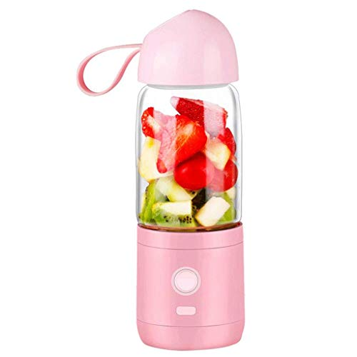 SMEJS Tragbare Mixer Personal 6 Blades Juicer Cup Haushalts Fruit Mixer, mit magnetischem Sichere Switch, USB-Ladegerät Cable500ML