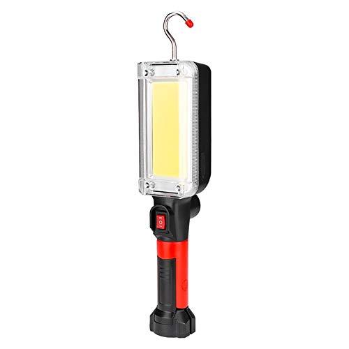 Linterna portátil linterna de la energía por 2 * 18650 batería LED de iluminación Magnética trabajo for acampar Pesca de la noche de la lámpara Lampara Camping (Color : Package 3)