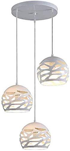 xiaowang - Lámpara de techo con forma de bola y altura regulable, E27, de hierro forjado, para dormitorio, simple personalidad