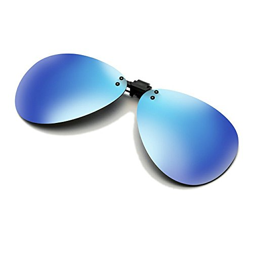 Cyxus aviador flash polarizado reflejado lentes clásico gafas de sol Gafas con clip [Anti reflejante] Protección uv, para conducción/pesca, Unisexo(Hombres y mujeres) Azul