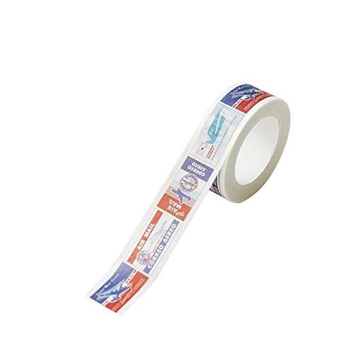 Vikenner Dekorative Washi Tape Reisen 15mm Masking Tape Aufkleber für Scrapbooking DIY Deko-Klebeband Basteln Glückwunschkarten Washitapes Flugzeuge