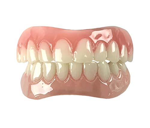 Instant Smile Comfort Fit Flex Teeth - Upper and Lower Matching Set, Natural Shade! Fix Your Smile At Home Within Minutes!