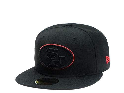 New Era Fitted Cap der San Francisco 49ers - NFL Kappe in schwarz (7 7/8)