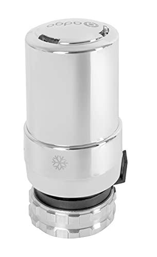 ADGO Testina termostatica per radiatore cromato, sistema di riscaldamento per termosifoni termostatici, valvole di regolazione della temperatura pneumatica