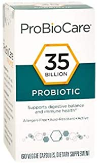 ProBioCare Probiotic 35 Billion Supports Digestive Immune Health, Once Daily (60 Veggie Capsules)