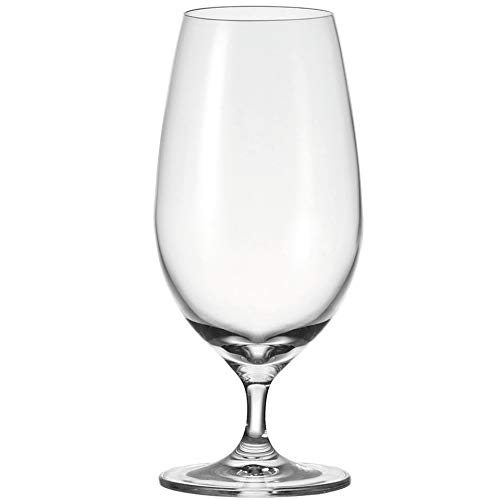Leonardo Cheers Bier-Gläser, 6er Set, spülmaschinenfestes Bier-Glas, Bier-Tulpen mit gezogenem Stiel, Pils-Gläser Set, 450 ml, 061702