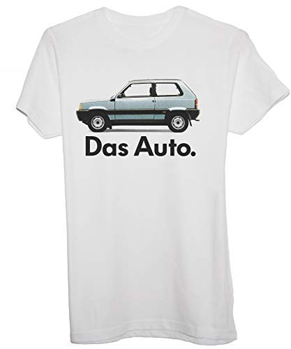 New Indastria T-Shirt Panda Fiat Das Auto by Uomo-XL-Bianca