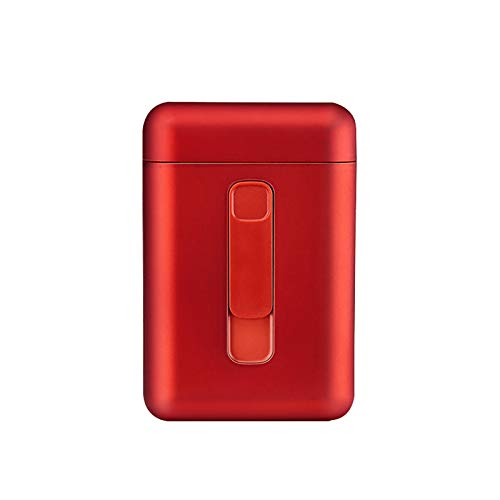 Kasachoy Module étui à cigarettes avec briquet électrique USB séparable et rechargeable pour cigarettes entières 20 pièces anti-collision, anti-éclaboussures et anti-rayures (rouge)