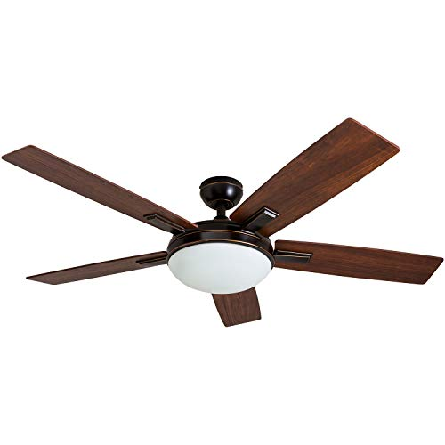 """Prominence Home 51022 Emporia Contemporary Ceiling Fan with Remote, 52"""", Oil Rubbed Bronze"""