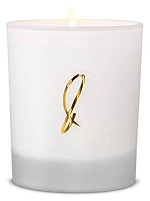Craft & Kin Scented Candle Natural Soy Candles - Luxury Decorative Candles - Long Burning Aromatherapy Candles - White Frosted Glass Candles Amber Jar Candles Leather, Wood, Lavender, Oak Moss