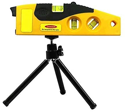 Sugazoon Herramienta de medición de línea EUR con trípode Rotary Laser Tool Dot Cross Line Laser Spirit Level Woodworking Level Medición Alineación Guía