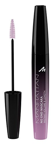 Manhattan No End Mascara Instant Volume & Length, Wimperntusche für endlos lange Wimpern mit ultimativem Volumen, Farbe Black 1010N, 1 x 8ml