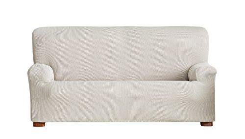 Eysa Ulises - Funda de sofá elástica, tela, 3 plazas, Color Crudo