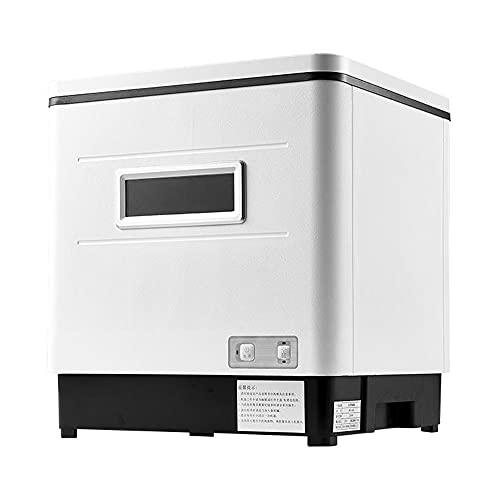 Tragbarer Mini Geschirrspüler, kompakter Spülmaschine 12L Wasser benötigt Vollintegriert Tischgeschirrspüler 1500W aus Edelstahl