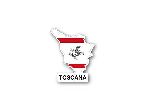 Akachafactory Sticker auto vlag kaart land provincie regio Italië toscana tuscany