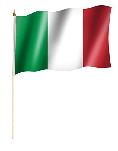 Stockflagge/Stockfahne ITALIEN Flagge/Fahne ca. 30 x 45 cm mit ca. 60cm Stab/Stock