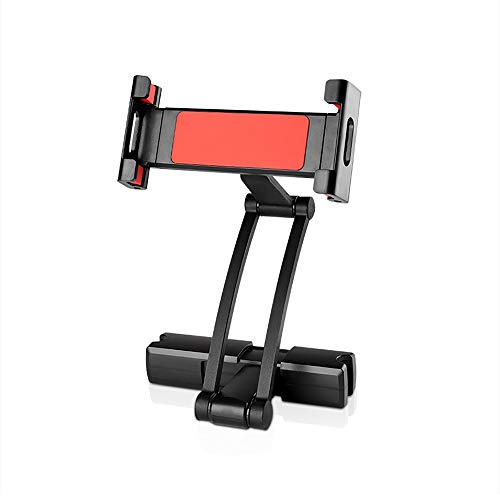 Soporte de aluminio para reposacabezas de asiento trasero para tablet de 5 a 13 pulgadas, iPhone iPad Air Mini 2 3 4 Pro 12.9 (rojo)