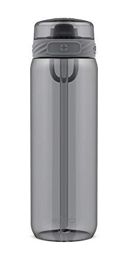 Ello Cooper BPA-Free Tritan Water Bottle with Anti-Microbial Straw, 28 oz, Grey
