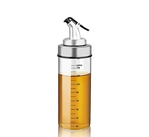 Oil Dispenser Essig Flasche, Essig und ölflaschen aus Glas mit Skala, ölbehälter küche olivenöl ausgießer, 1X170ml