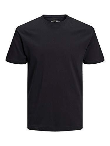 Jack & Jones Jjeliam tee SS Crew Neck Noos Camiseta, Negro (Schwarz), Large para Hombre