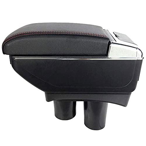 Coche ABS Apoyabrazos para Peugeot 301 2007-2016, El organizador grande de la caja de almacenamiento del reposabrazos del asiento de carro, el coche reemplaza los accesorios