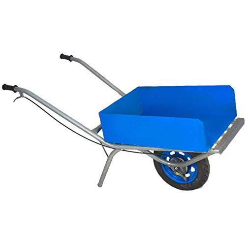 Heavy-Duty-Stahl Mehrzweckwagen, Yard Wagen Wagon, Garten Barrow Doppel-Rad Schubkarre/Garten Wagen, mit Handbremse
