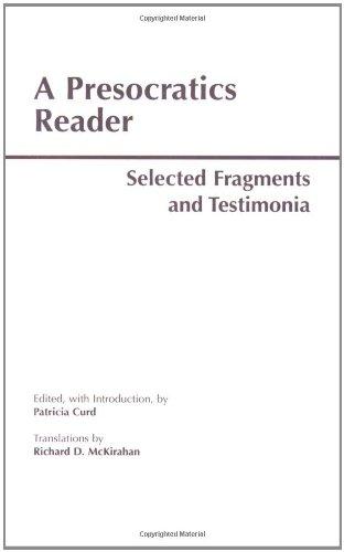 A Presocratics Reader