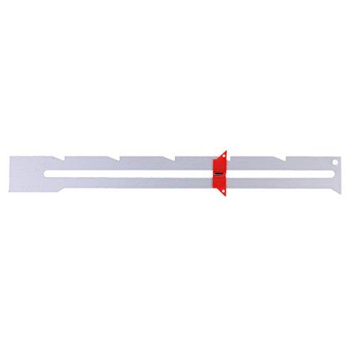Homyl Coser Tejer Multifuncional Corredera Deslizante Regla De Medición Espaciamiento Marcado Ojales Costura Accesorio Esencial