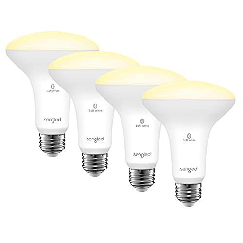 Sengled Smart Light Bulbs, Smart Flood Light Bulb Bluetooth, BR30 Smart Bulbs That Work with Alexa, 2700K 65W 650 LM Soft White Recessed, E26 Dimmable LED Light Bulbs, No Hub Required, 4 Pack
