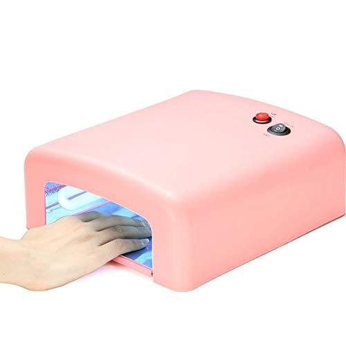 Lampes UV Tube de lumière UV tube de photothérapie 36w lampe rose détachable bas main et pied lampe à ongles double usage 120s timing 220v