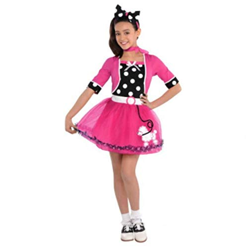 amscan 842710 Rocking 50s Bubbly Dolly Costume, Children Toddler Size, 1 Piece