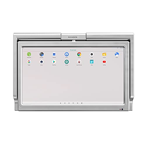 KUVASONG 15.6 Inches Touch Screen Flip Down Smart Kitchen TV, WiFi and Ethernet Connection, Full HD LED Panel, Kitchen Cabinet TV, Under Cabinet TV
