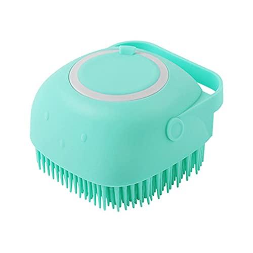 Champú masajeador cepillo de masaje gato cepillo de aseo peine baño ducha cepillo suave silicona pelo corto