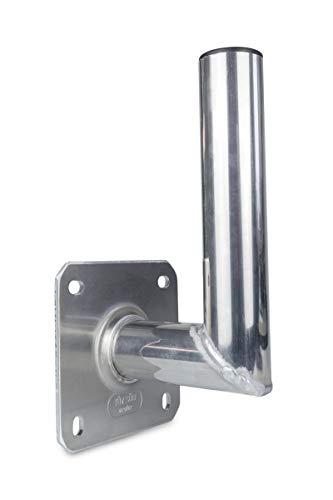 A.S.Sat Wandhalter Sat Aluminium Wandhalterung für Satellitenschüssel Edelstahloptik 15 cm TÜV geprüft, 10015