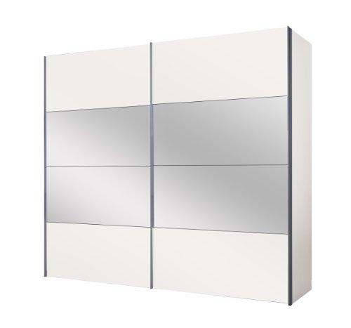 Express Möbel 49280-070 Schwebetürenschrank 250 x 216 x 68 cm / polarweiß / Spiegel