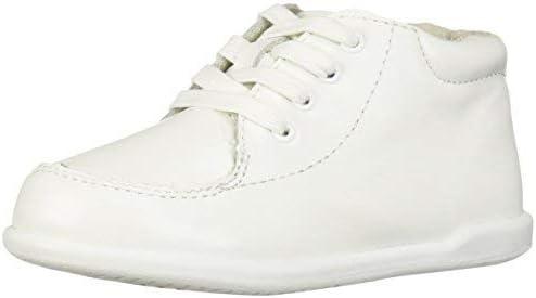 Josmo Baby-Boy's Daniel First Walker Shoe, White, 7.5 Wide US Toddler