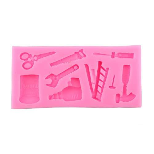 Backformen - Schöne Silikonkuchen Fondantform Topper Hammer Schraubenschlüssel Werkzeuge DIY Backformen