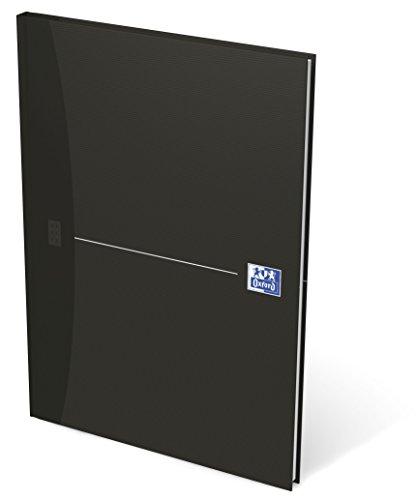 OXFORD 100104227 Gebundenes Buch Essentials A4 kariert 96 Blatt mit abtrennbaren Ecken schwarz Geschäftsbuch Tagebuch Kladde Journal Skizzenbuch