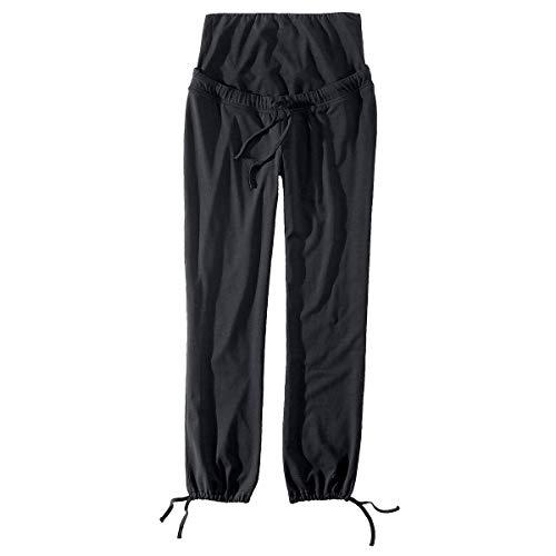 2HEARTS Umstands-Freizeithose We Love Basics - Schwangerschafts-Hose aus Baumwoll-Jersey mit Stretch-Anteil & Oberbauchbund - schwarz