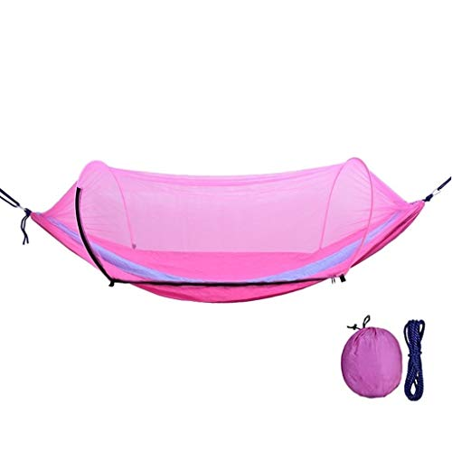 zxb-shop Asientos Columpios Columpio al Aire Libre con mosquiteras La Hamaca Puede soportar 200 kg Columpio de Patio de recreo ( Color : Pink )