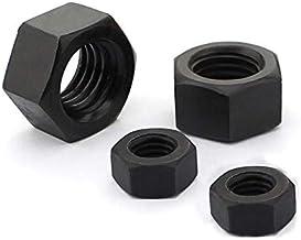 Lkjh 100st M2 M2.5 M3 M4 M5 M6 M8 M10 M12 M14 M16 Black Grade 8.8 Carbon Steel Zeskantmoer Hexagon Noten (Size : M12(10PCS))