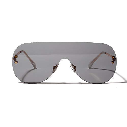 Glqwe Classic zonnebril, UV-bescherming, één stuk, grote doos, modieuze zonnebril, persoonlijkheid