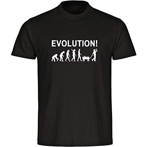T-Shirt Evolution des Mannes schwarz Herren Gr. S bis 5XL - Lustig Witzig Sprüche Party Geschenk Funshirt