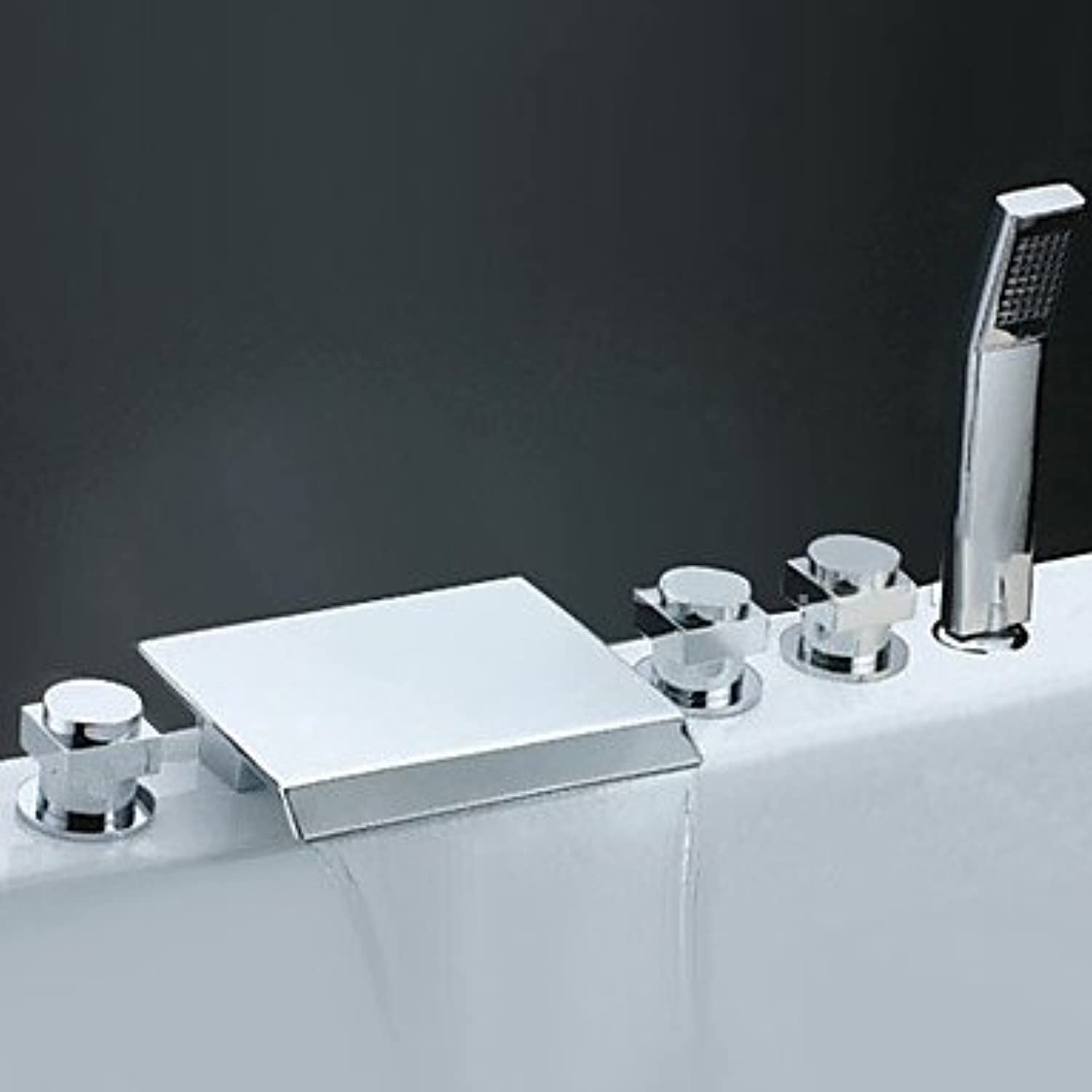 Miaoge Bath Fittings?–?Contemporary Waterfall Side Hand Shower with Brass Nozzle (Chrome)