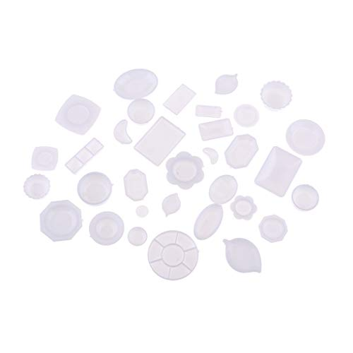 Toygogo 33 piezas 1:12 casa de muñecas miniatura vajilla plato bandeja tazón conjunto