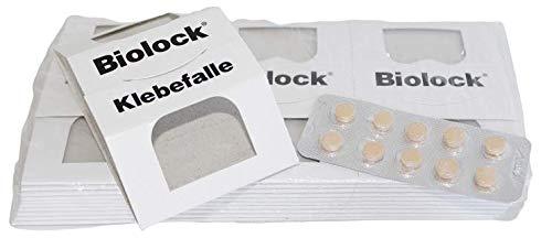 finicon Schabenfallen-Set Biolock mit 30 Lockstoff-Tabletten und 10 x 3 Biolock Klebefallen zur Befallsüberwachung von Schaben/Kakerlaken