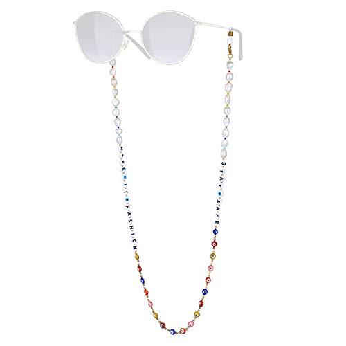 KANYEE Retenue De Lunettes De Perle Lettres Mixte Perles Chaînes De Lunettes Bon Design Colliers De Lunettes -19A